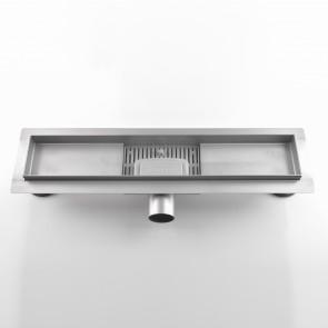 Caniveau de salle de bain avec grille...
