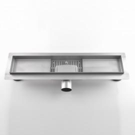 Canalina di scarico bagno con griglia in