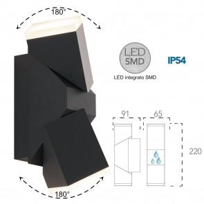 Applique d'extérieur LED 10W réglable...
