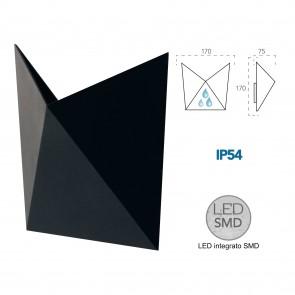 Applique LED noire diamant pour...