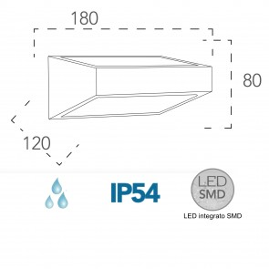 Applique LED avec une forme originale...
