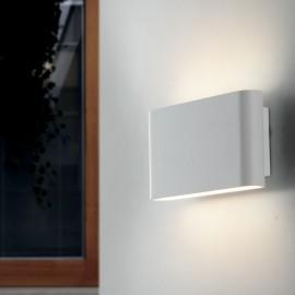 Applique blanche avec lumière LED de