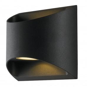 Applique murale LED design moderne structure aluminium 2x 7W noir 4000K double éclairage 120