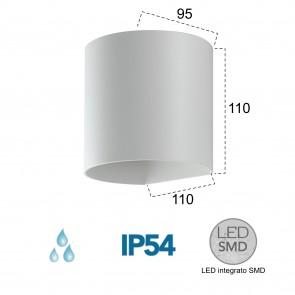 Applique LED blanche A 4000kelvin 7...