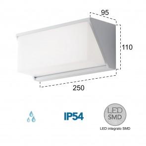 Applique d'extérieur LED blanche 12W Liz