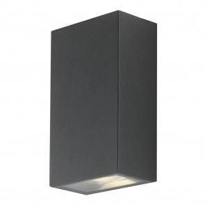 Applique da parete per esterno 2x6w a led a doppia emissione antracite Giava