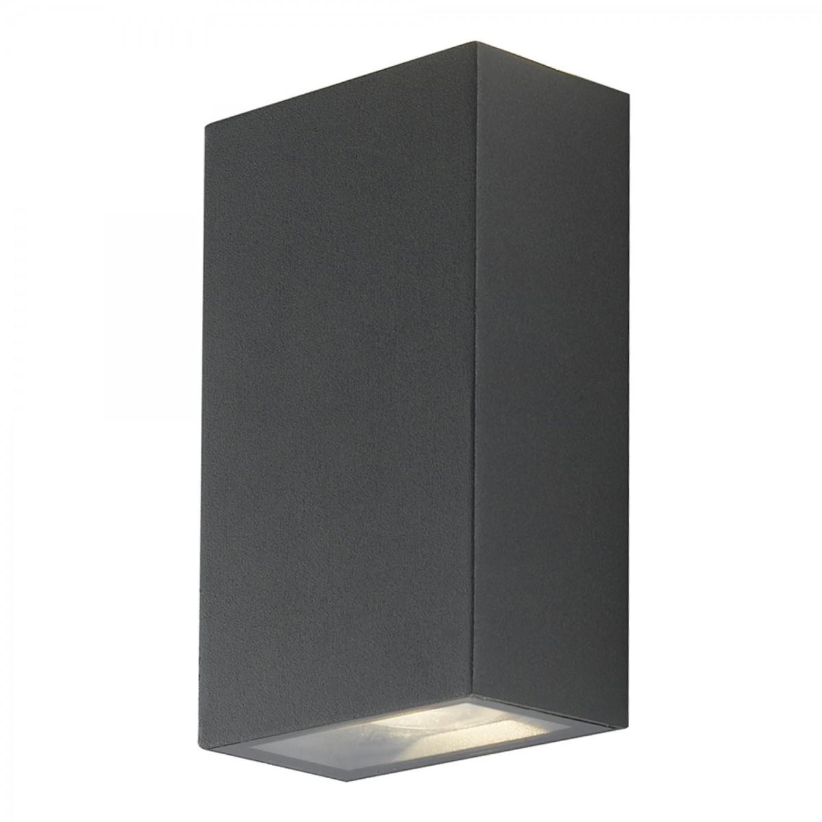 Applique da parete per esterno 2x6w a