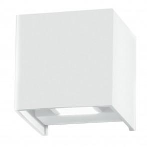 Applique da parete per esterno 2x5w a led a doppia emissione regolabile bianca Bert