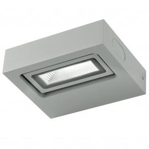 Applique murale extérieure LED rectangulaire grise réglable 3000K 12L x 10,8 x 3,6H cm 230V conducteur inclus