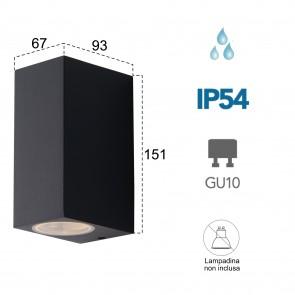 Applique da parete per esterno 2x35W...