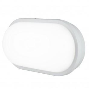 Plafonnier extérieur LED ovale blanc