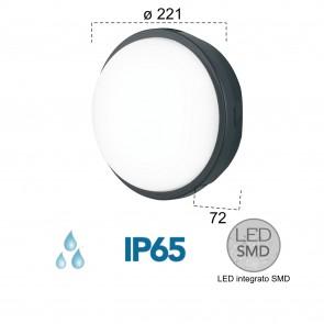 Plafonnier LED extérieur anthracite