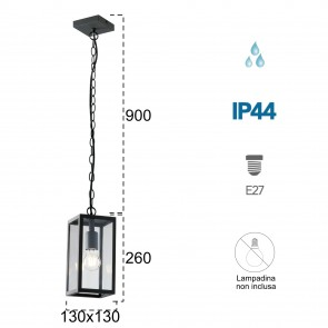 Lampe à suspension Gastly 60W E27...