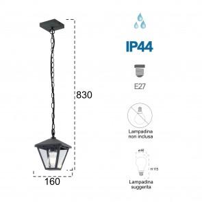 Lampe à suspension Libresque 60W E27...