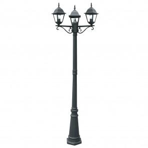 Lampadaire noir à trois lumières pour...