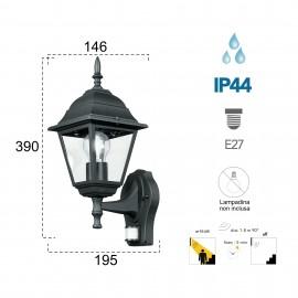 Lanterne d'extérieur ROMA noire avec