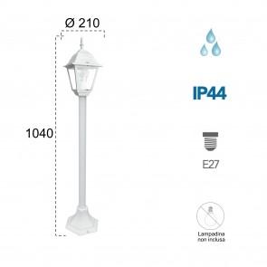 Poteau de lampadaire blanc pour...