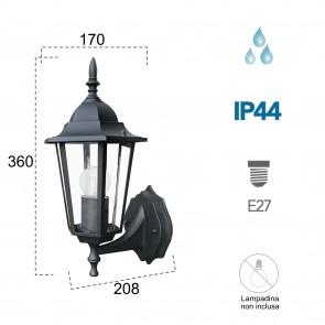 Lanterne applique noire imperméable
