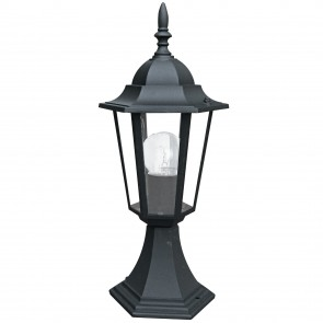 Mât de lanterne étanche noir MILANO