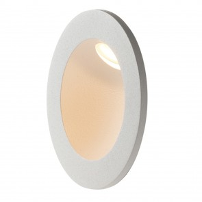Le projecteur blanc rond en aluminium...