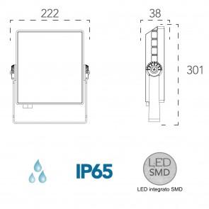 Projecteur de lumière LED étanche blanc