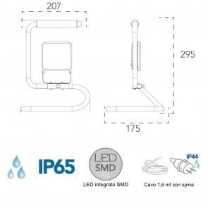 Naxos Portable 20W projecteur...
