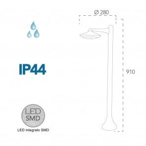 Lampadaire LED A + 4000kelvin 12 watts