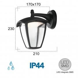 Lanterne d'extérieur LED noire LADY