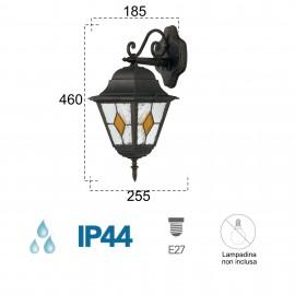 Lanterne applique vers le bas pour PISA