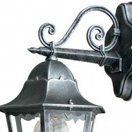 Lanterne applique vers le bas pour