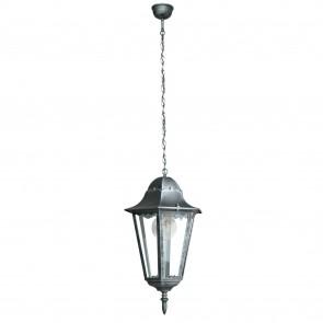Lanterne suspendue d'extérieur argentée