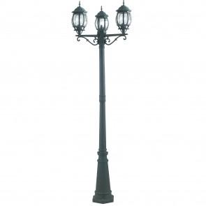 Palo luce per esterno 3x60W E27 nero...