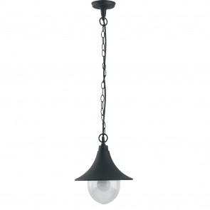 Lanterne suspendue noire étanche