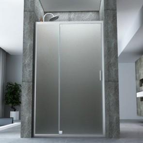 Porte de douche semi-articulée en...