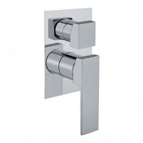 Miscelatore incasso doccia 3 vie quadrato - Made in italy