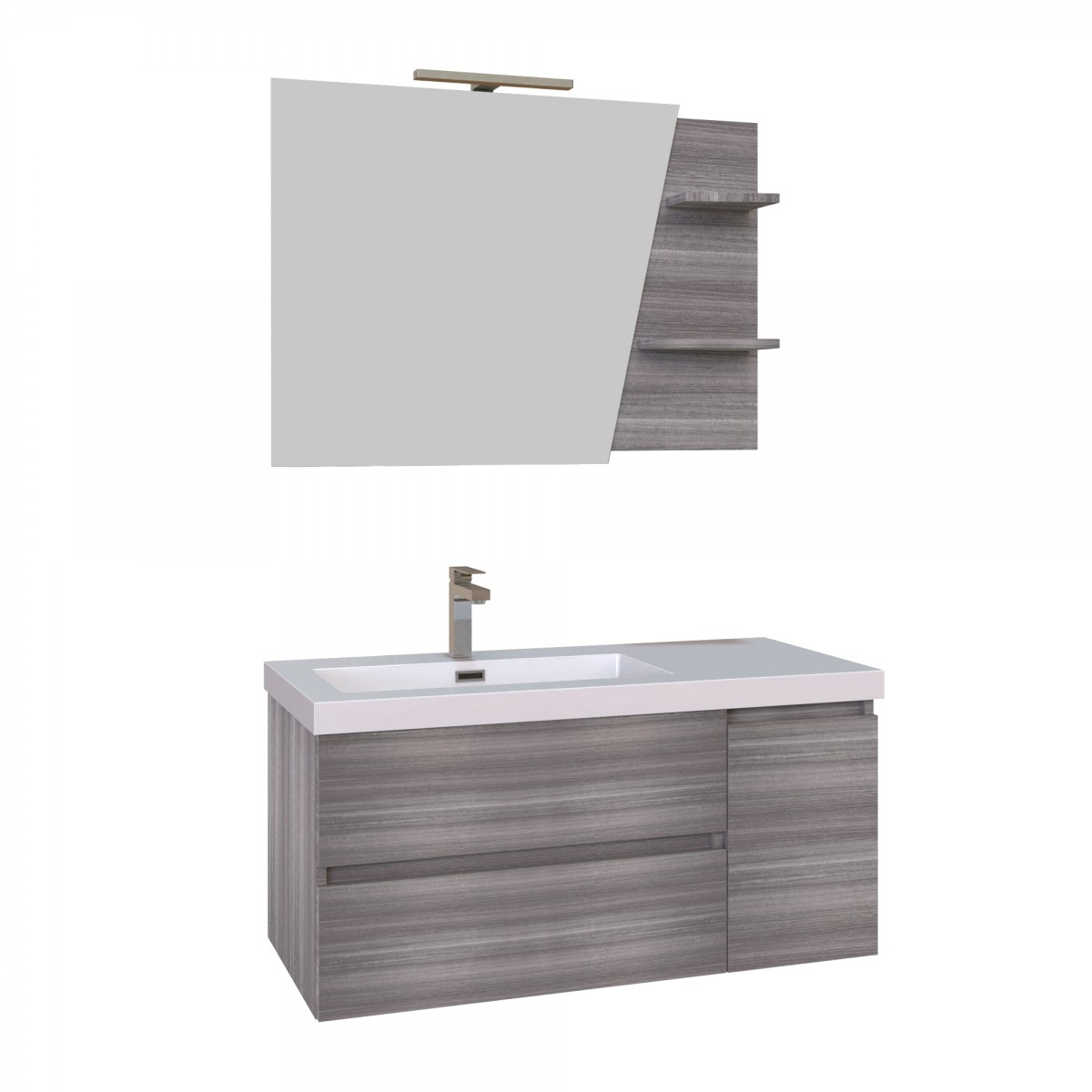 Mobile bagno sospeso 100cm grigio