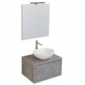 mobile bagno sospeso 60cm grigio