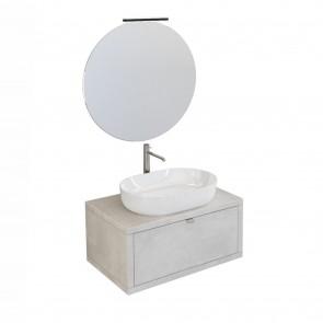 Mobile bagno sospeso 80cm effetto...