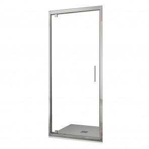 Porte de douche en niche pivotante à...