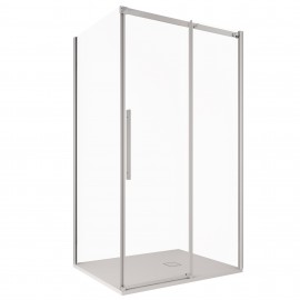 Cabine de douche d'angle H200 avec porte