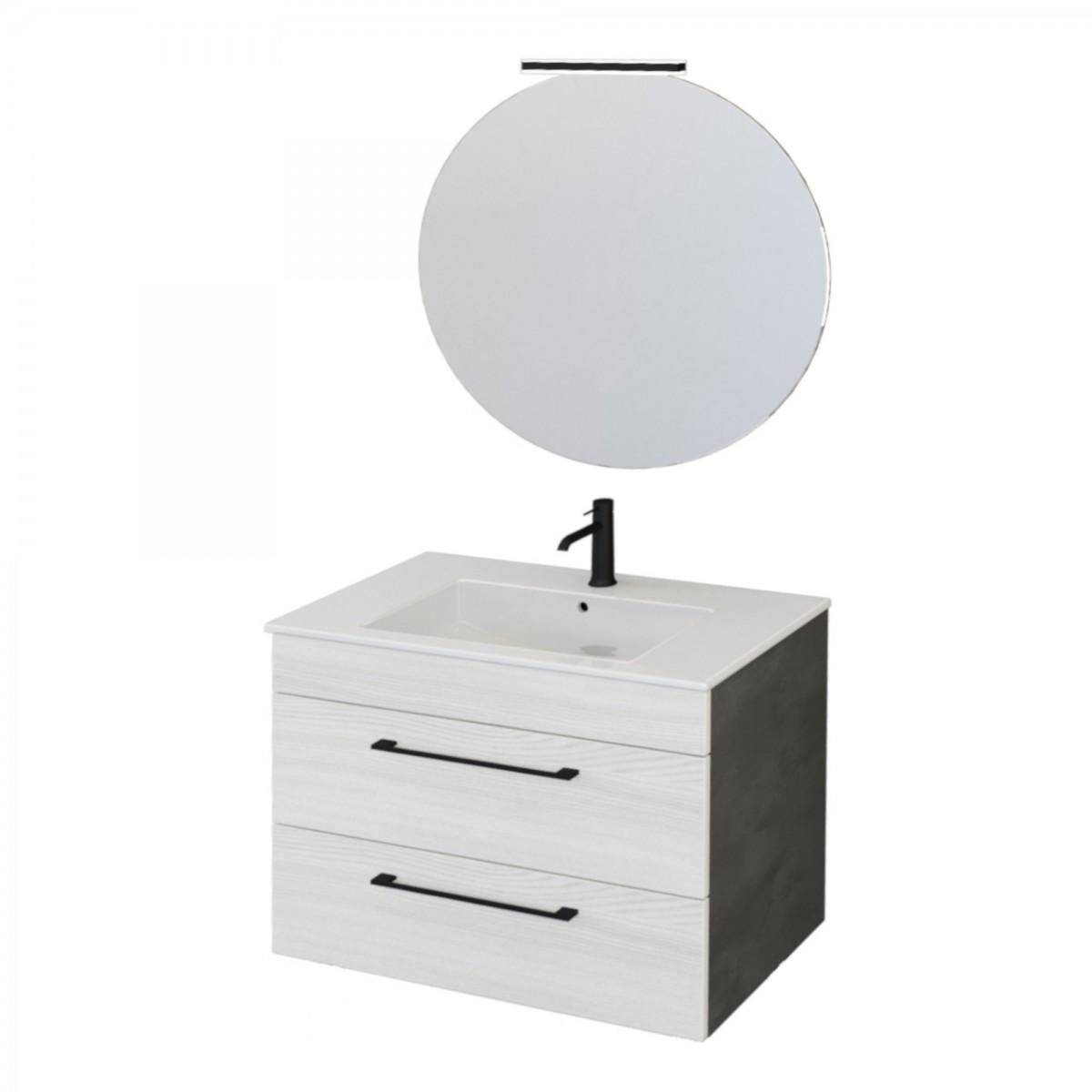 Mobile bagno sospeso 80cm con specchiera