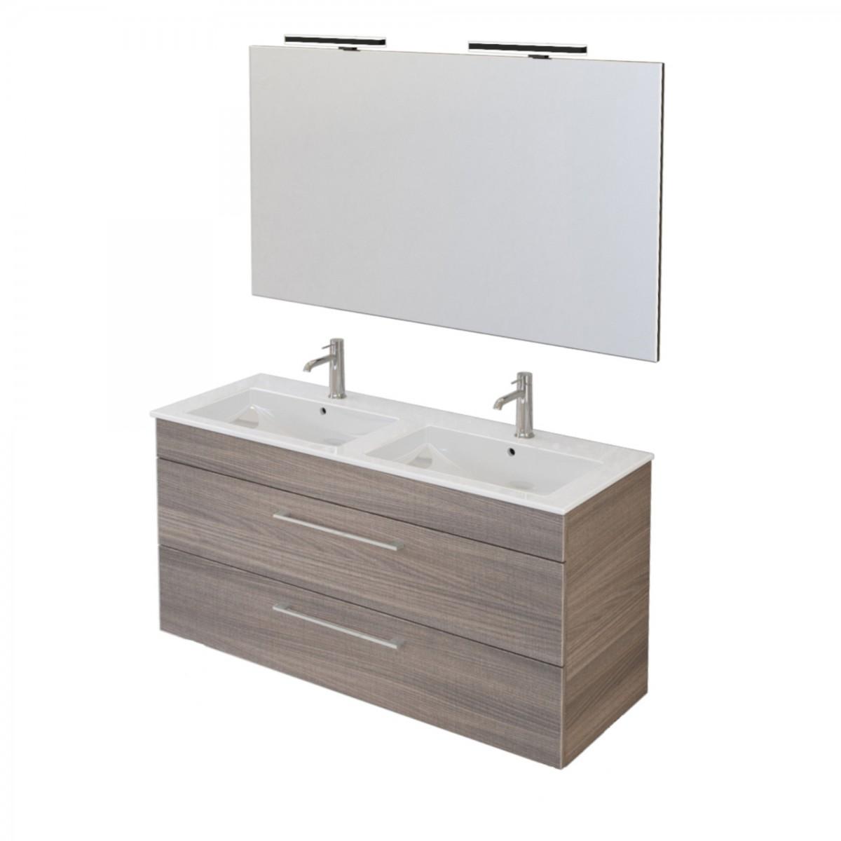 Mobile bagno sospeso 118cm con specchio