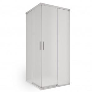 Box doccia angolare senza telaio due...