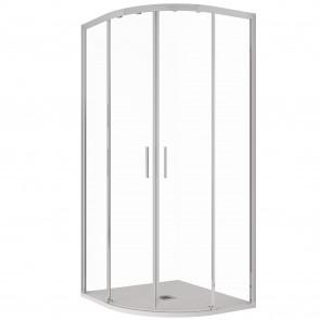 Box doccia trasparente semicircolare...