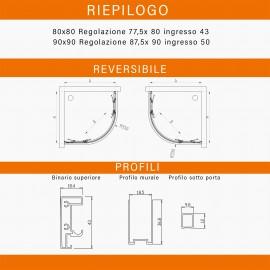 Box doccia semicircolare trasparente