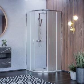 Box doccia semicircolare opaco tondo...