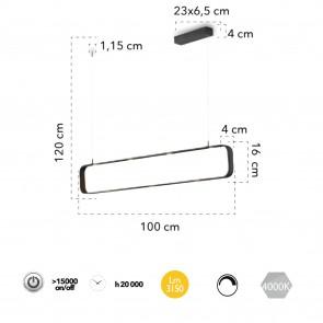 Plafonnier suspension Let Moka design...