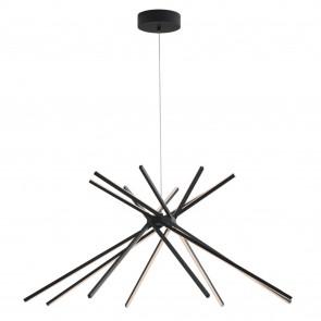 Lustre LED moderne en aluminium noir...