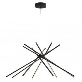 Lustre LED moderne en aluminium noir 50