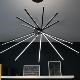 Lampada a sospensione 54W a led nero